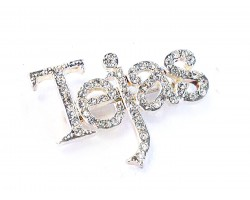 Clear Crystal Tejas Silver Brooch Pin