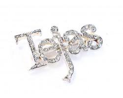 Clear Crystal Tejas Silver Brooch Pin