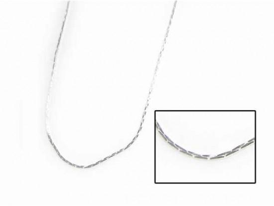 """16"""" Silver Plate Mini Cobra Chain Necklace by 6 Dozen Bag"""