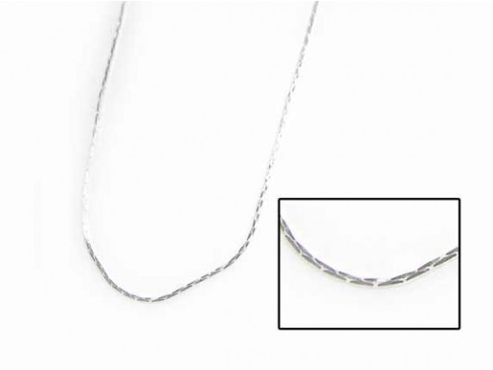 """24"""" Silver Plate Mini Cobra Chain Necklace by 6 Dozen Bag"""