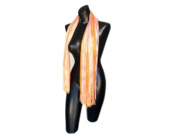Orange White Shimmer Oblong Scarf
