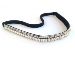 Clear Crystal Multi Line Stretch Headband