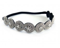 Clear Crystal Infinity Design Stretch Headband