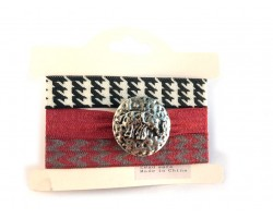 Alabama Theme Elephant Hair Tie Bracelet 18pk
