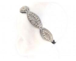 Clear Crystal Wavy Stretch Headband