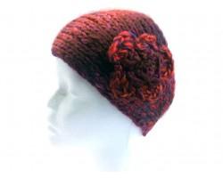 DarK Purple Pink Knit Flower Headbands