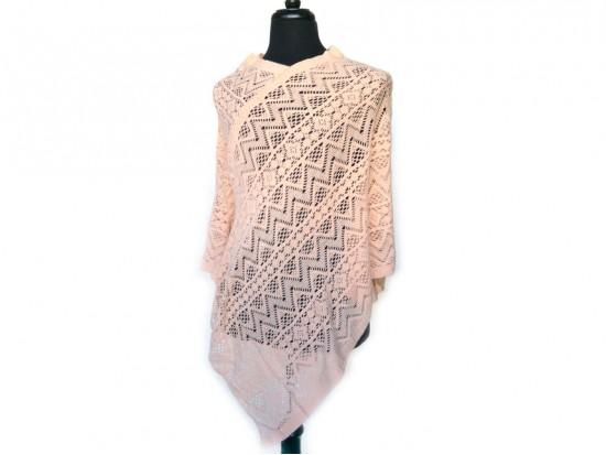 Pink Lace Poncho