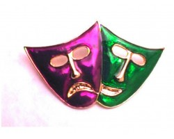 Mardi Gras Mask Pin Brooch