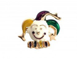 Clown Jester Mardi Gras Pin Brooch