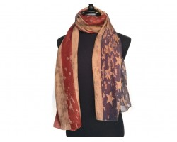 Red White Blue Brown Old American Flag Oblong Scarf