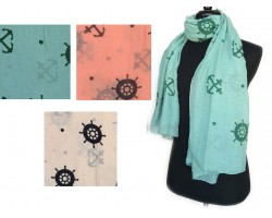 Anchor Wheel Oblong Scarf 6pk