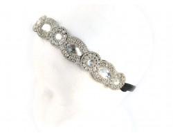 Crystal Marquise Round Stretch Headband
