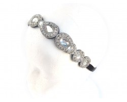 Crystal Teardrops Stone Stretch Headband