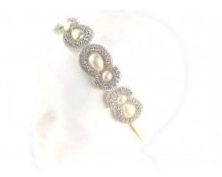 Pearl Crystal Teardrop Stones Stretch Headband