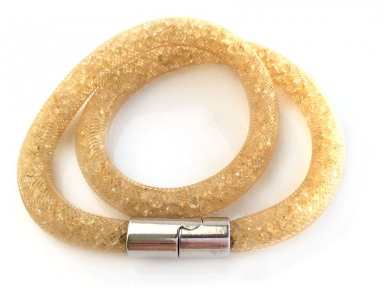 Champagne Crystal Stardust Double Bracelet Small