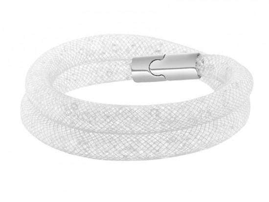 White Crystal Stardust Double Bracelet
