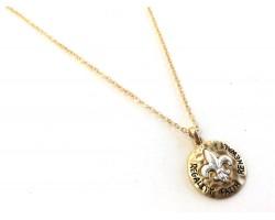 Gold Hammer Fleur de Lis Necklace