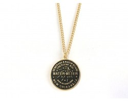 Antique Gold Water Meter Necklace
