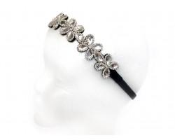 Clear Crystal 5 Point Flower Stretch Headband