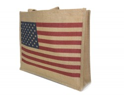 USA Flag Red Blue White Tote Bag