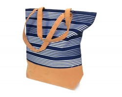 Blue White Stripe Tote Bag