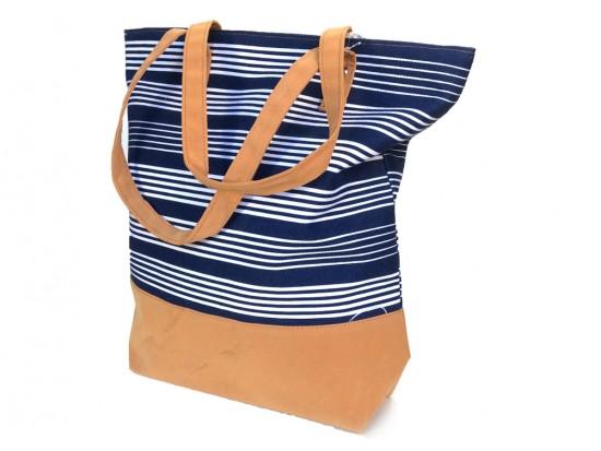 Blue White Stripe Tote Bag