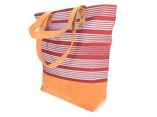 Red White Stripe Tote Bag