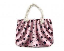 Red White Blue USA Stripes Stars Tote Bag