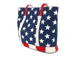Red White Blue USA Flag Tote Bag