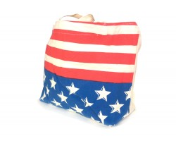 Red White Stripe Blue White Star Tote Bag