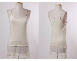 Beige Lace Shoulder Dress Extender 5pk Regular Size