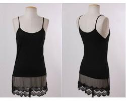 Black Lace Shoulder Dress Extender 5pk