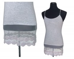 Light Gray Lace Shoulder Dress Extender 5pk Reg Size