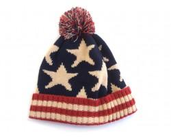 USA Stars Flag Pattern Beanie Cap