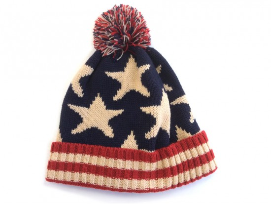 USA Stars Flag Pattern Beanie Cap