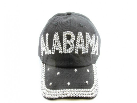 Alabama Crystal Black Ball Cap