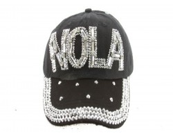 NOLA Baguette Crystal Black Ball Cap