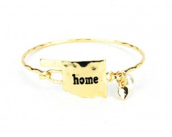 Gold Oklahoma State Home Bangle