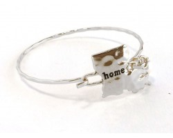 Silver Louisiana State Home Bangle