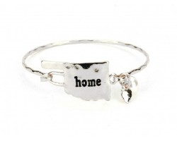 Silver Oklahoma State Home Bangle
