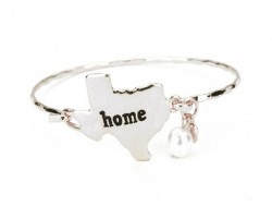 Silver Texas State Home Bangle