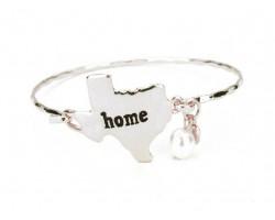 Silver Texas State Home Bangle