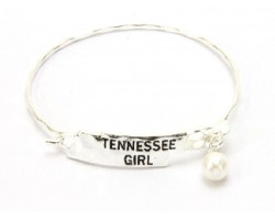 Silver Tennessee Girl State Map Bangle