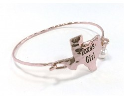 Silver Texas Girl State Map Bangle
