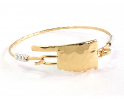 Gold Oklahoma State Map Bangle