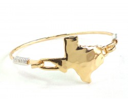 Gold Texas State Map Bangle