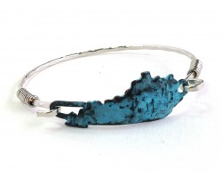 Patina Kentucky State Map Bangle
