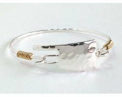 Silver Oklahoma State Map Bangle