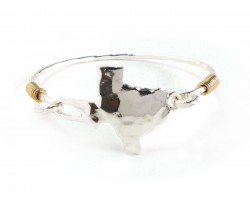 Silver Texas State Map Bangle