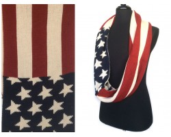USA Flag Knit Infinity Scarf